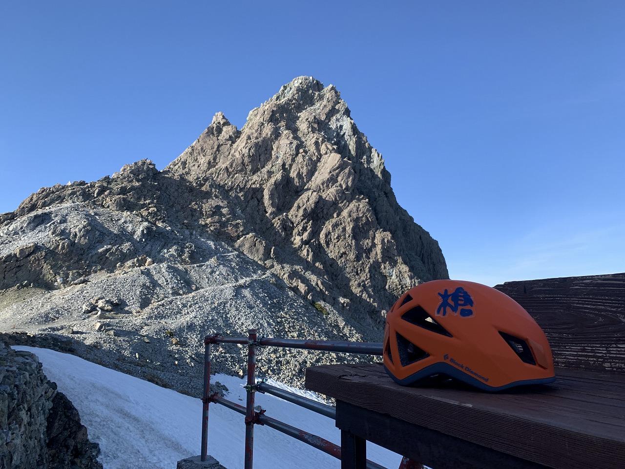 槍ヶ岳とぼくのヘルメット