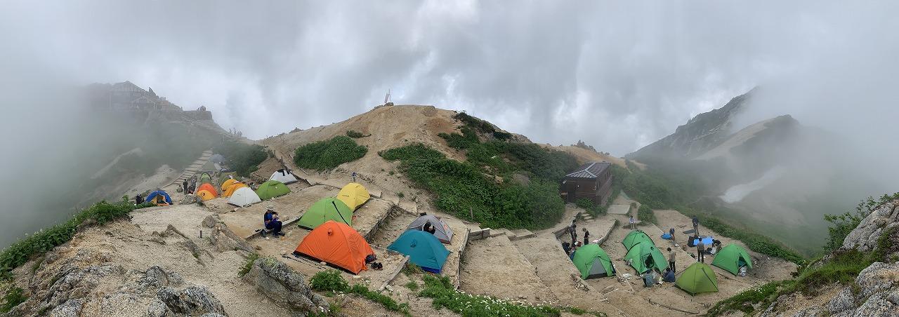 燕岳のテント場