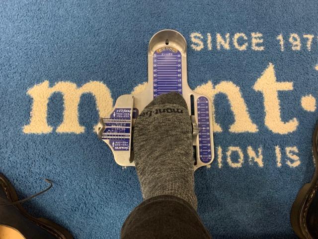 登山靴計測
